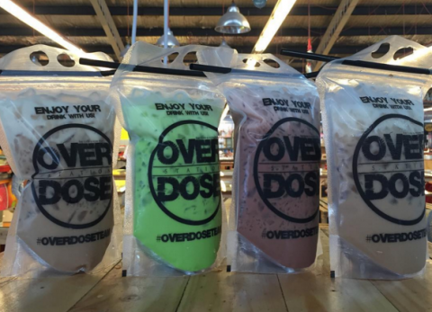 Popular Overdose drinks arrive in Singapore