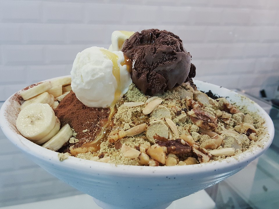 Halal Korean bingsu Icebox Cafe
