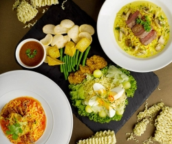 Chilli crab and lemak cili padi Indomie at Rumah Rasa